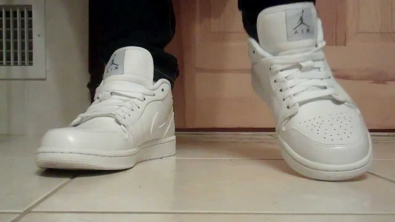 air jordan low blanche